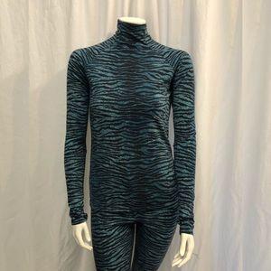 Kenzo x H&M blue striped turtleneck pants 10 Rare!